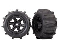 "Traxxas E-Revo VXL 2.0 Paddle Tires 3.8"" Pre-Mounted w/Monster Truck Wheels (Black)"