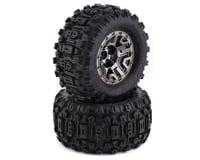 """Traxxas Sledgehammer 2.8"""" Pre-Mounted Tires (2) (Black Chrome)"""
