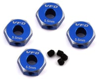 V-Force Designs Team Associated DR10 12mm Hex Adapters (Blue) (4)