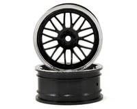 Vaterra 12mm Hex 54x26mm Front Deep Mesh Wheel (2) (Chrome/Black)