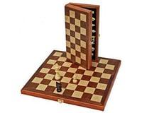 "Wood Expressions  Wood Folding Chess Set 11"""