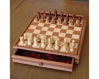 """Wood Expressions 268815 15"""" French Staunton Style Chess & Checkers Set"""