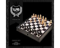 """Wood Expressions  Chess/Checkers Set & Storage, Black Stained 15"""""""