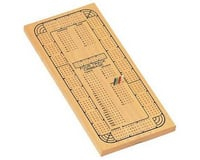 Wood Expressions WE Games 30-3004 Solid Wood Continuous 4 Track Cribbage Board with 4 Different Color Pegs (24 total)