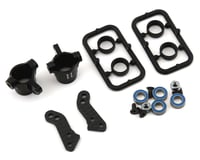Xray XRAY T4 2020 Aluminum Steering Blocks w/Graphite Extension Plates