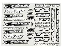 Xray T4 Sticker Decal Sheet (White) (XRAY 2014)