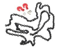 Yeah Racing 96cm 1/10 Crawler Scale Steel Chain Accessory w/Red Hooks (Black) (GMade Komodo)