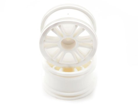 Team Associated Front Spoked Wheel (White) (2)