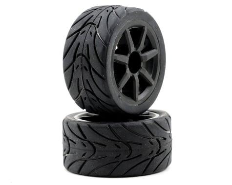 Team Associated Pre-Mount Wheels/Tires (2) (Black)