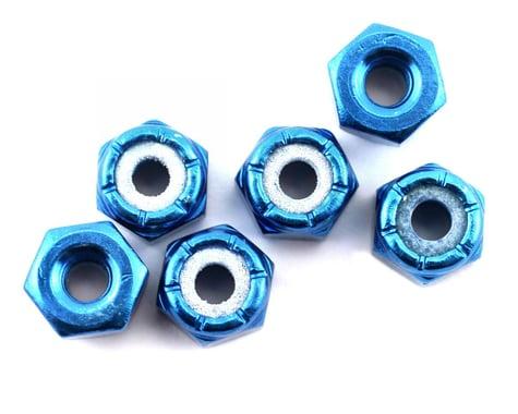 Team Associated 8/32 Aluminum Locknut (Blue Anodized) (6)