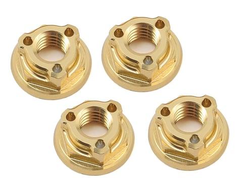 Avid RC Triad 4mm Light Weight Serrated Wheel Nut Set (4) (Gold)