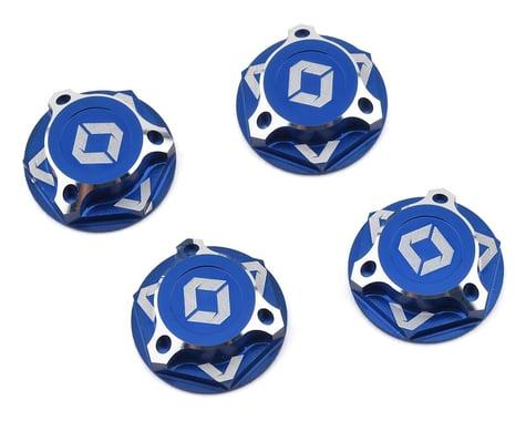 Avid RC Triad 17mm Fine Thread Capped Wheel Nut Set (Blue) (4) (M12x1.0)