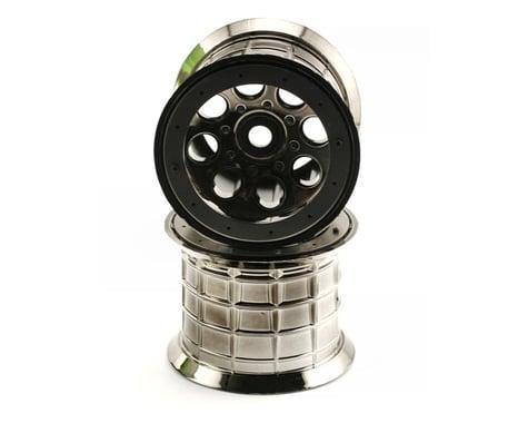 Axial 8 Hole Beadlock Monster Truck Wheel (2) (Black Chrome)