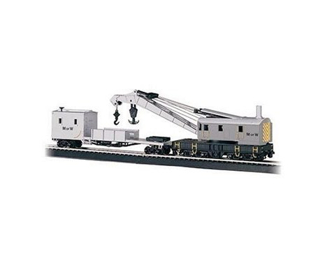 Bachmann Maintenance of Way 250-Ton Steam Crane & Boom Tender (HO Scale)