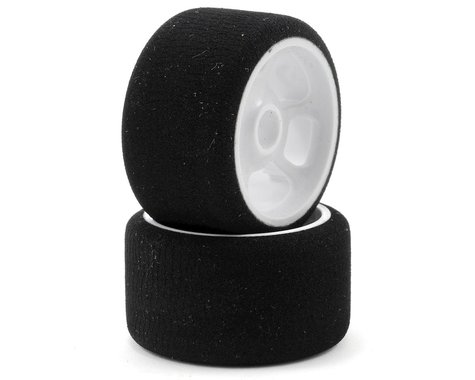"""CRC """"Pro-Cut"""" 1/12 Front Tires (2) (White) (Gray)"""