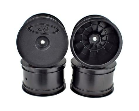 DE Racing Speedline 2.2 1/10 Buggy Rear Wheels (4) (B6/B74/22/22-4) (Black)