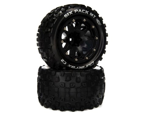 """DuraTrax Six Pack MT Belted 2.8"""" Monster Truck Tires w/14mm Hex (Black) (2)"""