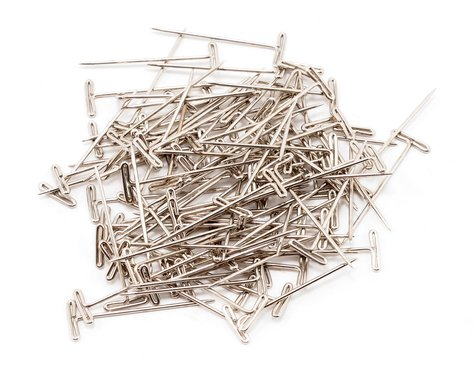 """DuBro 1-1/4"""" Nickel Plated T-Pins (100)"""