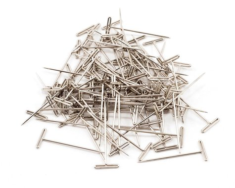 """DuBro 1-1/2"""" Nickel Plated T-Pins (100)"""