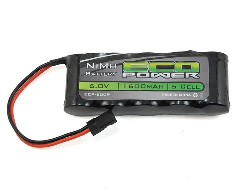 EcoPower 5-Cell NiMH Stick Receiver Battery Pack (6.0V/1600mAh)