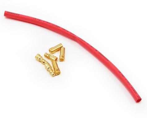 E-flite 3.5mm Gold Bullet Connector Set w/Heatshrink (3 Male/3 Female)