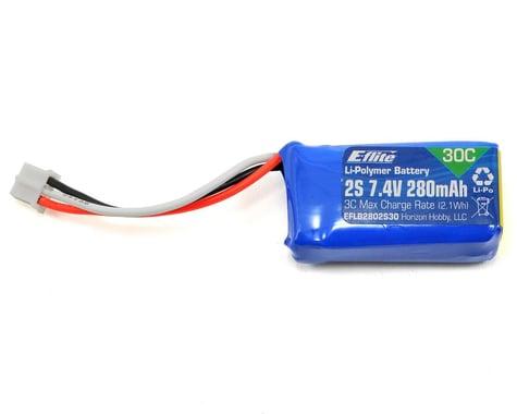 E-flite 2S LiPo Battery 30C (7.4V/280mAh)
