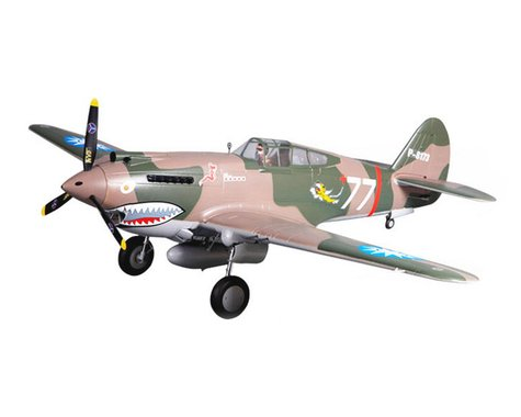 FMS P-40B Warbird Plug-N-Play Electric Airplane (Warhawk Camo) (1400mm)