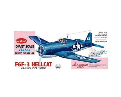 """Guillow Grumman F6F-3 Hellcat Kit, 32.5"""""""