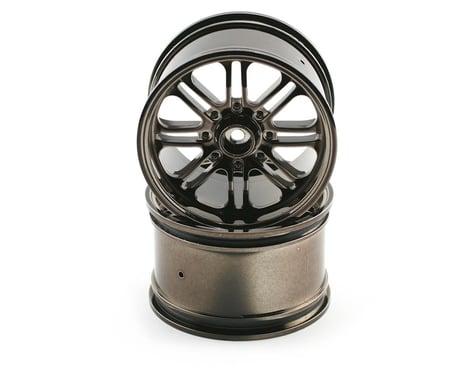 HPI 8-Spoke Wheel (2) (Savage X) (Black Chrome)
