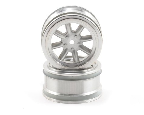 HPI 12mm Hex 26mm Vintage 8 Spoke Wheel (2) (Matte Chrome)