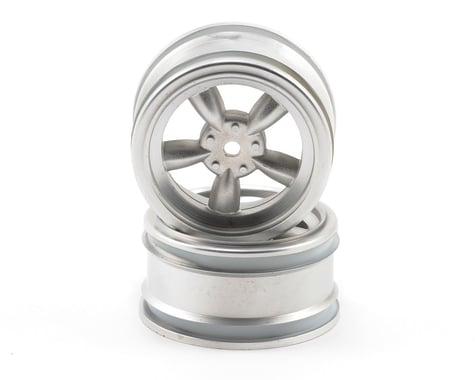 HPI 12mm Hex 26mm Vintage 5-Spoke Wheel (2) (0mm Offset) (Matte Chrome)