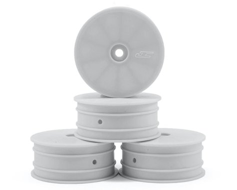 JConcepts 12mm Hex Mono 2.2 4WD Front Buggy Wheels (4) (22-4) (White)