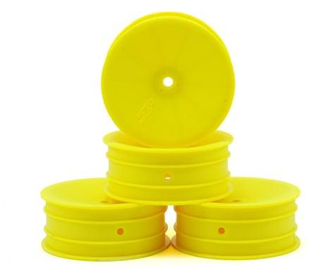 JConcepts 12mm Hex Mono 2.2 Front Wheels (4) (B6/B5/RB6) (Yellow)