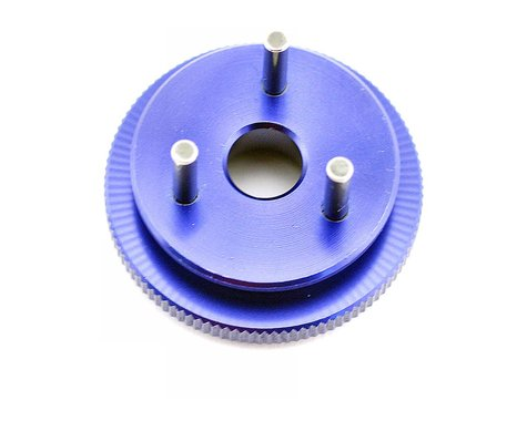 Kyosho 3-Shoe 34mm Blue Anodized Flywheel