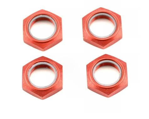 Kyosho Wheel Nut W/Nylon (Red) (4)