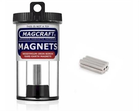 """National Imports  / Magcraft 1/8""""x1/32"""" Rare Earth Disc Magnets (150)"""