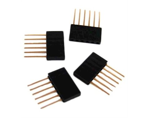 OSEPP Arduino Stackable Header - 6 Pin 4Pc