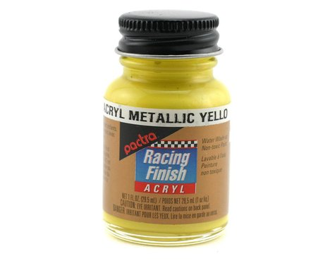 Pactra Metallic Yellow Acryl Paint (1oz)