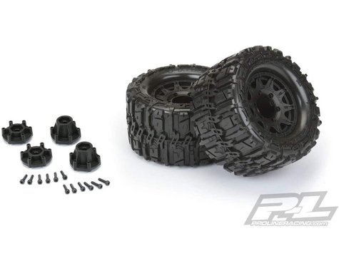 """Pro-Line Trencher HP Belted 2.8"""" Pre-Mounted Truck Tires (M2) (2) (Black)"""