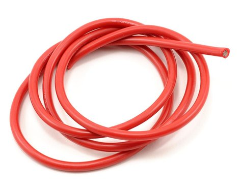 ProTek RC 12awg Red Silicone Hookup Wire (1 Meter)