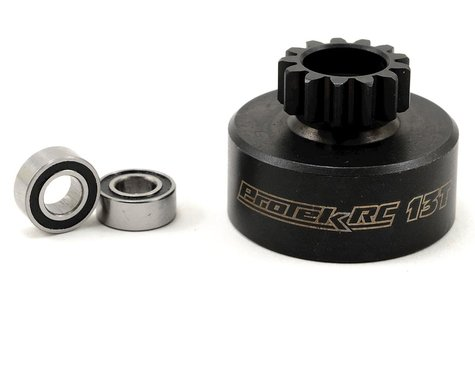 ProTek RC Hardened Clutch Bell w/Bearings (13T) (Kyosho/AE 3-Shoe)