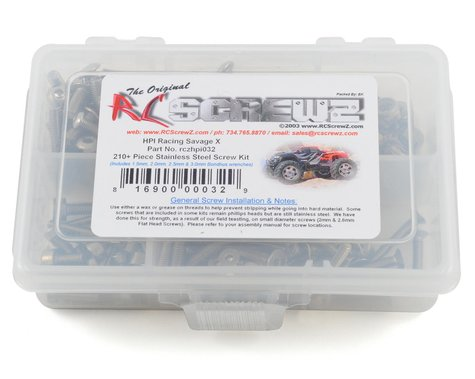 RC Screwz HPI Savage X Stainless Steel Screw Kit