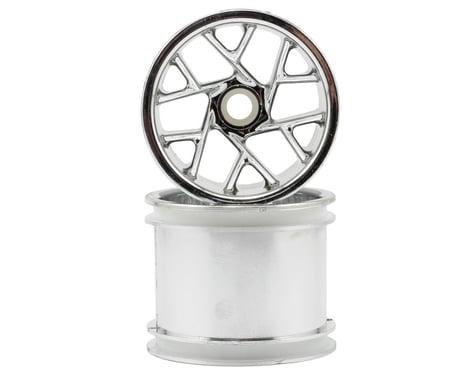 "RPM ""Slingshot 12 Spoke"" Traxxas Nitro Front Wheels (2) (Chrome) (Pins)"