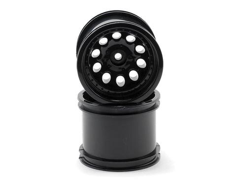 RPM Revolver 10 Hole Traxxas Electric Front/Nitro Rear Wheels (2) (Black)