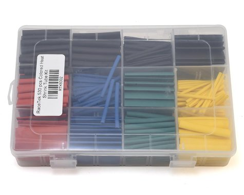 RaceTek 530 Piece Colored Heat Shrink Tube Kit (3mm/6mm/7mm/10mm)