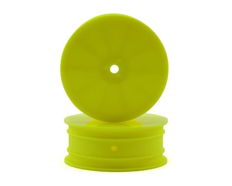 """Raw Speed RC 2.2"""" Front Wheels (Yellow) (2) (TLR/D216)"""