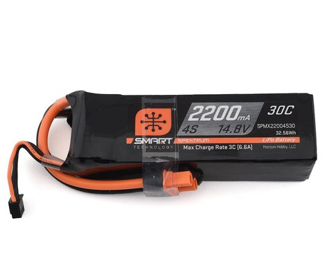 Spektrum RC 4S Smart LiPo 30C Battery Pack w/IC3 Connector (14.8V/2200mAh)