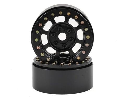 SSD RC Trail 1.9 Steel Beadlock Crawler Wheels (Black) (2)