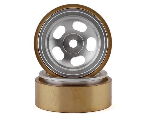 "SSD RC SCX24 1.0"" Aluminum/Brass 5-Slot Beadlock Wheels (2)"