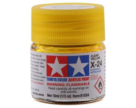 Tamiya X-24 Clear Yellow Acrylic Paint (10ml)